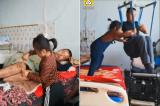 Em bé 6 tuổi chăm sóc cha tàn tật sau khi bị mẹ bỏ rơi