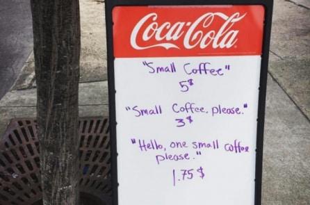 """Tiệm cà phê ở Mỹ dùng bảng giá để """"phân loại"""" khách hàng"""