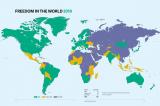 """Freedom House: Quá nửa thế giới """"không tự do"""" hoặc """"tự do một phần"""""""