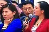 """""""Lưỡng hội"""" Trung Quốc: Hai nữ phóng viên tại cuộc họp báo gây sốt trên internet"""