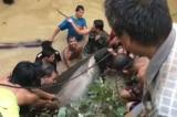 Dân làng Thái Lan bắt được con cá nặng 200 kg và cái kết bất ngờ