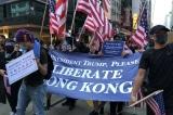 Người biểu tình tới Lãnh sự quán Mỹ, kêu gọi Trump giải phóng Hồng Kông
