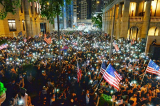 Mít tinh kêu gọi Mỹ thông qua Dự luật Nhân quyền và Dân chủ Hồng Kông