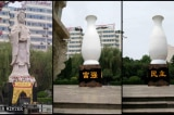 Trung Quốc: TượngQuan Âm tại tỉnh Sơn Đông bị giấu vào bình hoa