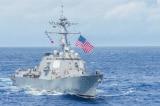 Hai tàu chiến Mỹ thực hiện hoạt động tự do hàng hải trên Biển Đông